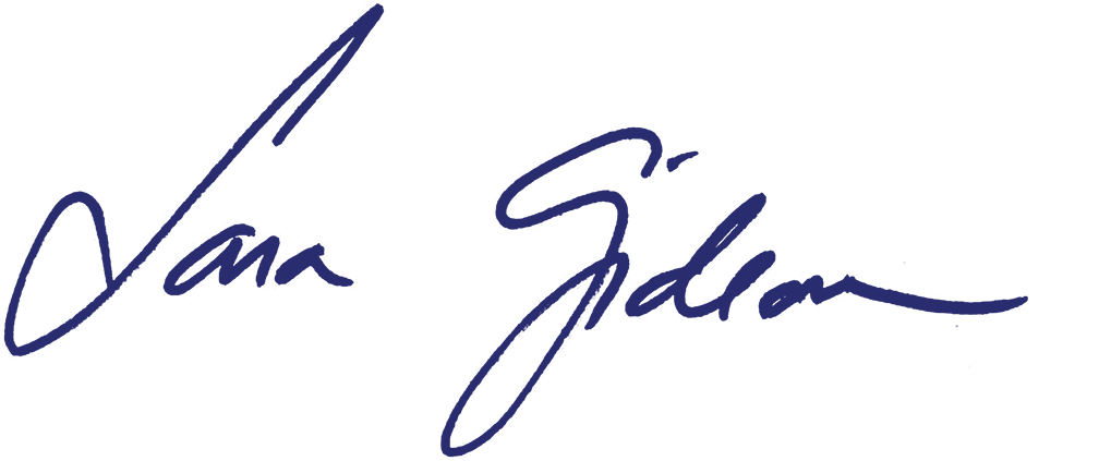 Sara Gideon signature